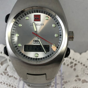 Vintage Quiksilver Stainless Steel Sports Watch